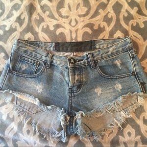 One Teaspoon quality denim short shorts